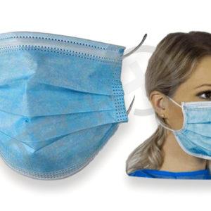Maska zaščitna obrazna trislojna
